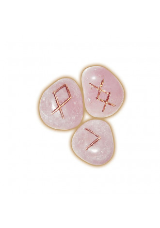 Rune set, Rose Quartz