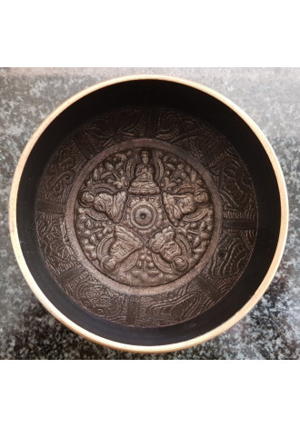 bowl,etched,small (VT81)
