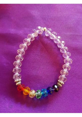 Chakra with pink beads