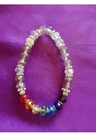 Chakra with clear beads