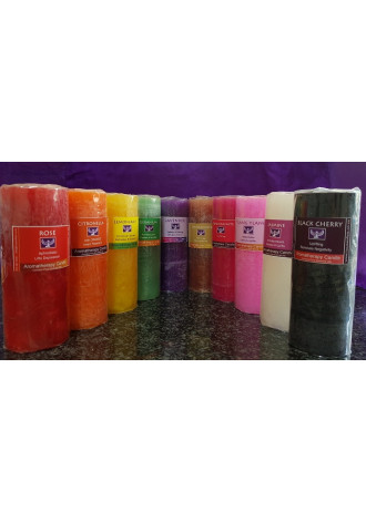 Fragranced candles, tall